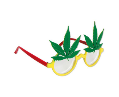 "Funbrille ""Marihuana"" Rasta"