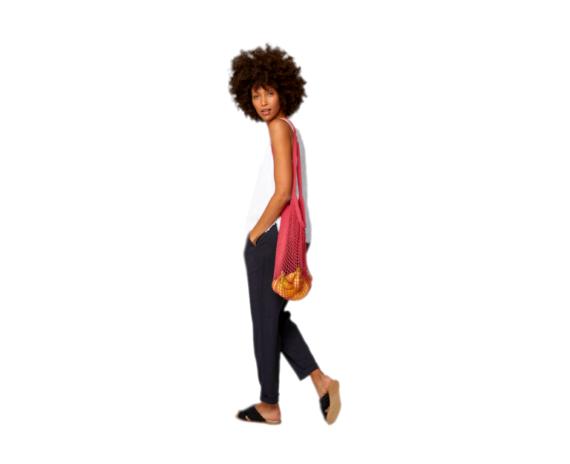 Einkaufsnetz String Bag HIBISCUS RED