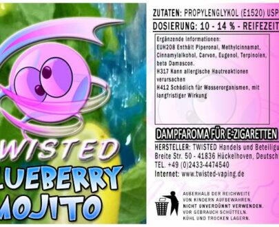 Twisted Aroma Blueberry Mojito 10ml